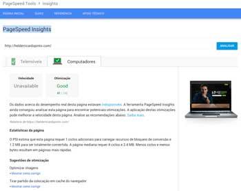 Google PageSpeed Desktop