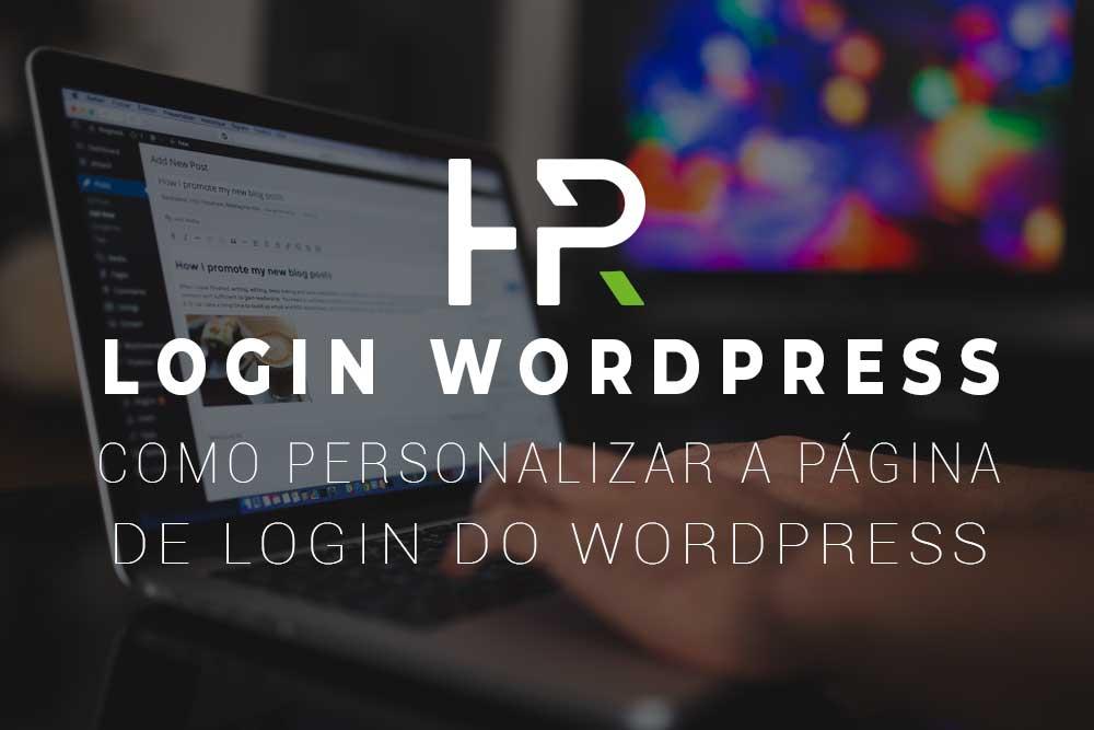 como personalizar a página de login do wordpress