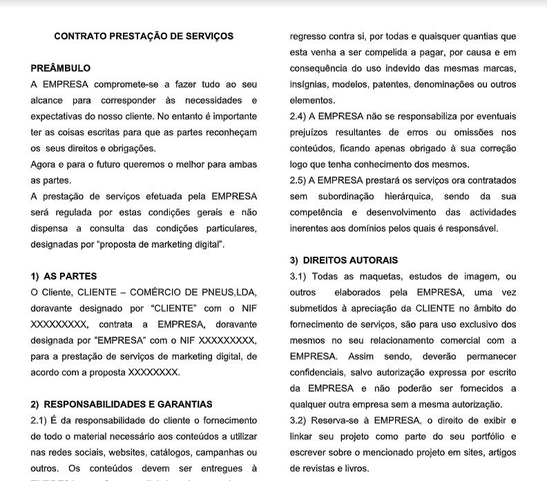 template contrato prestacao servicos